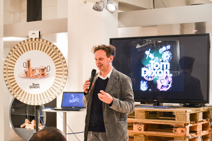 Tom Dixon in his first shop in the Netherlands - Binti Home