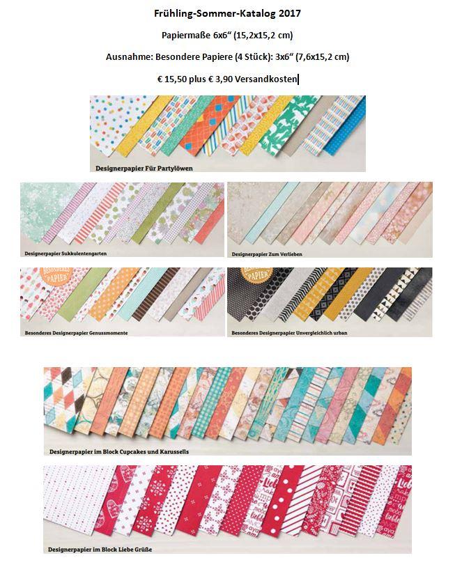 Designerpapier- und Bändershare Frühling 2017