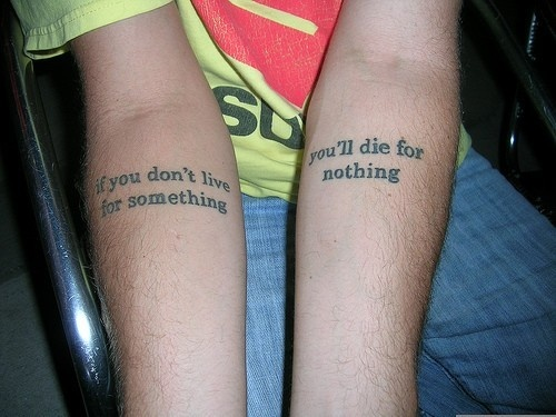 Tattoo Ideas Quotes on Life becauseilive on HubPages