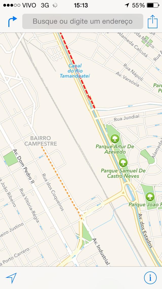 trânsito em tempo real - Mapas da Apple 1