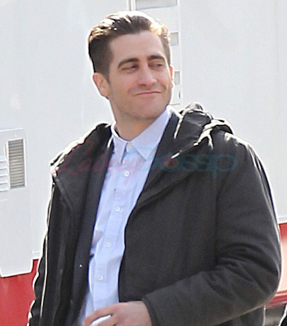 "on the set of ""Prisoners"" (2013) in Georgia, on January 20, 2013"