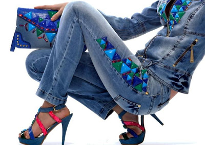 yeni trend mavi kirmizi gizia ayakkabi canta 2013 Gizia Marka Yeni Trend Çanta Ayakkabı Modelleri
