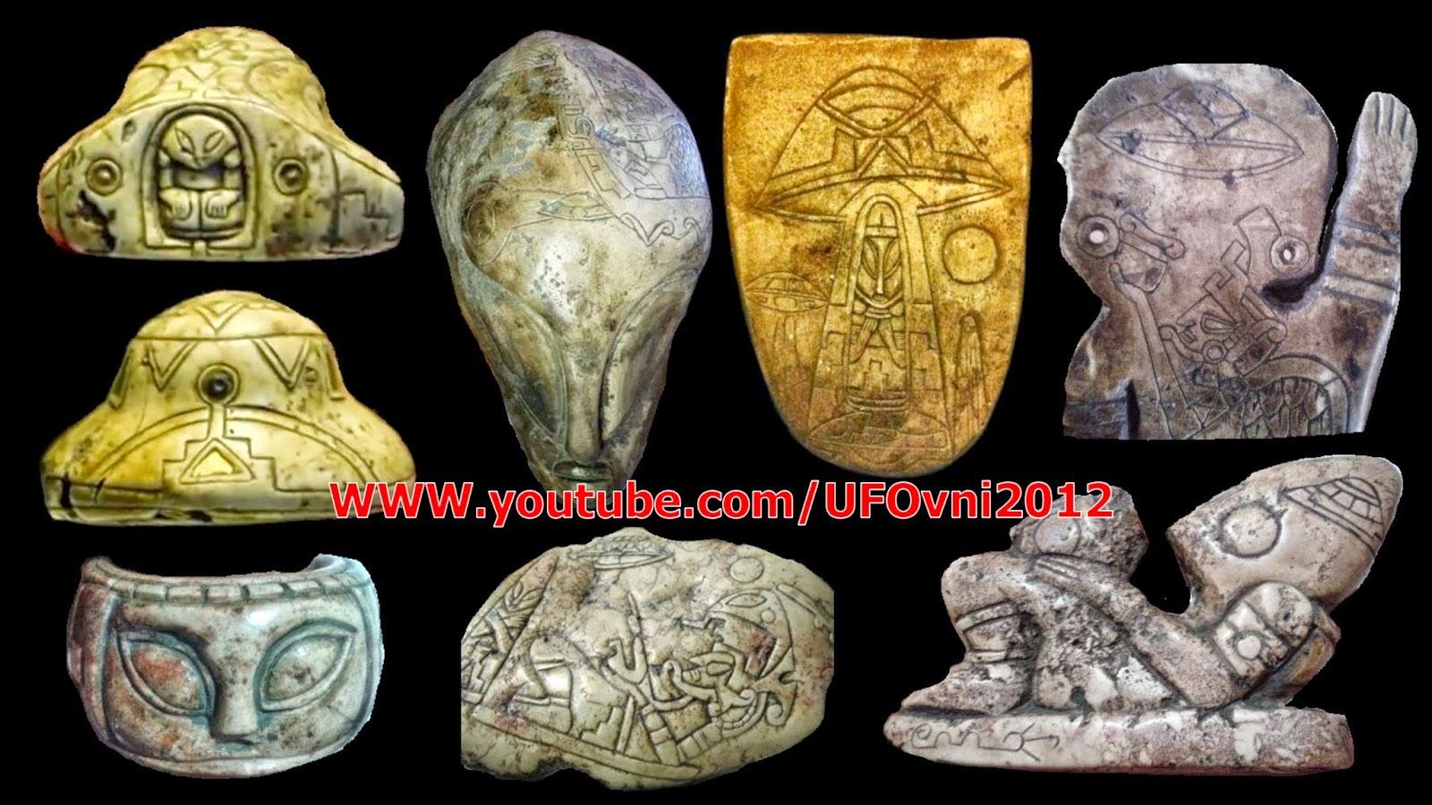 Aztec origine des objets archéologiques trouvés dans Ojuelos de Jalisco, au Mexique