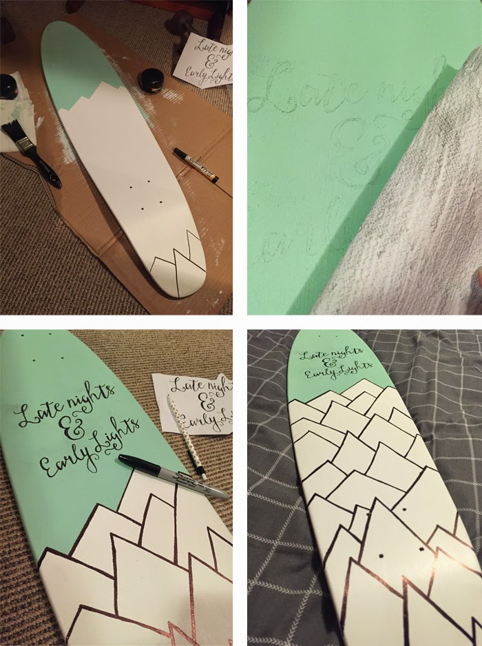Custom Skate Deck Design on Melody Mackereth and the Glorious Bandits Blog