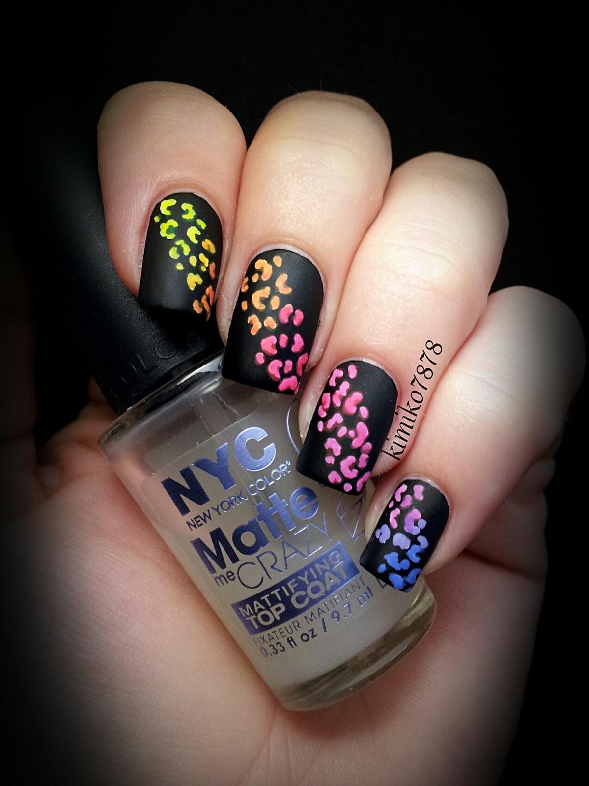 Neon Rainbow Cheetah Gradient
