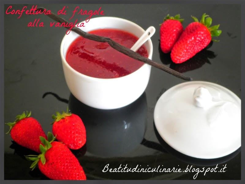confettura di fragole alla vaniglia