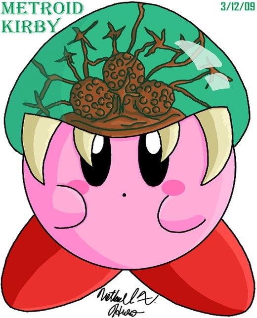 Kirby - Metroid por BlazingGanondorf
