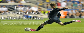 Top 30 des coups francs de David Beckham