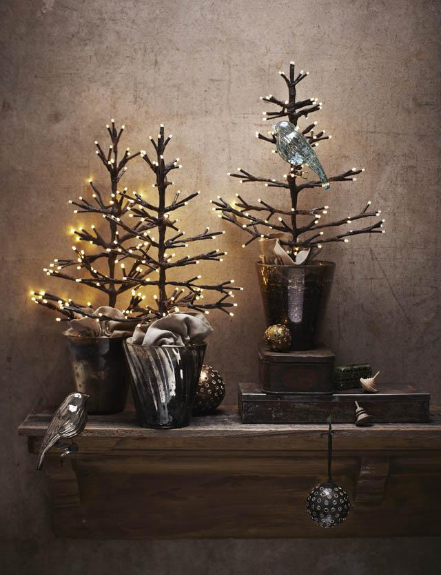 arboles de navidad pequeños y elegantes_arbol led marron