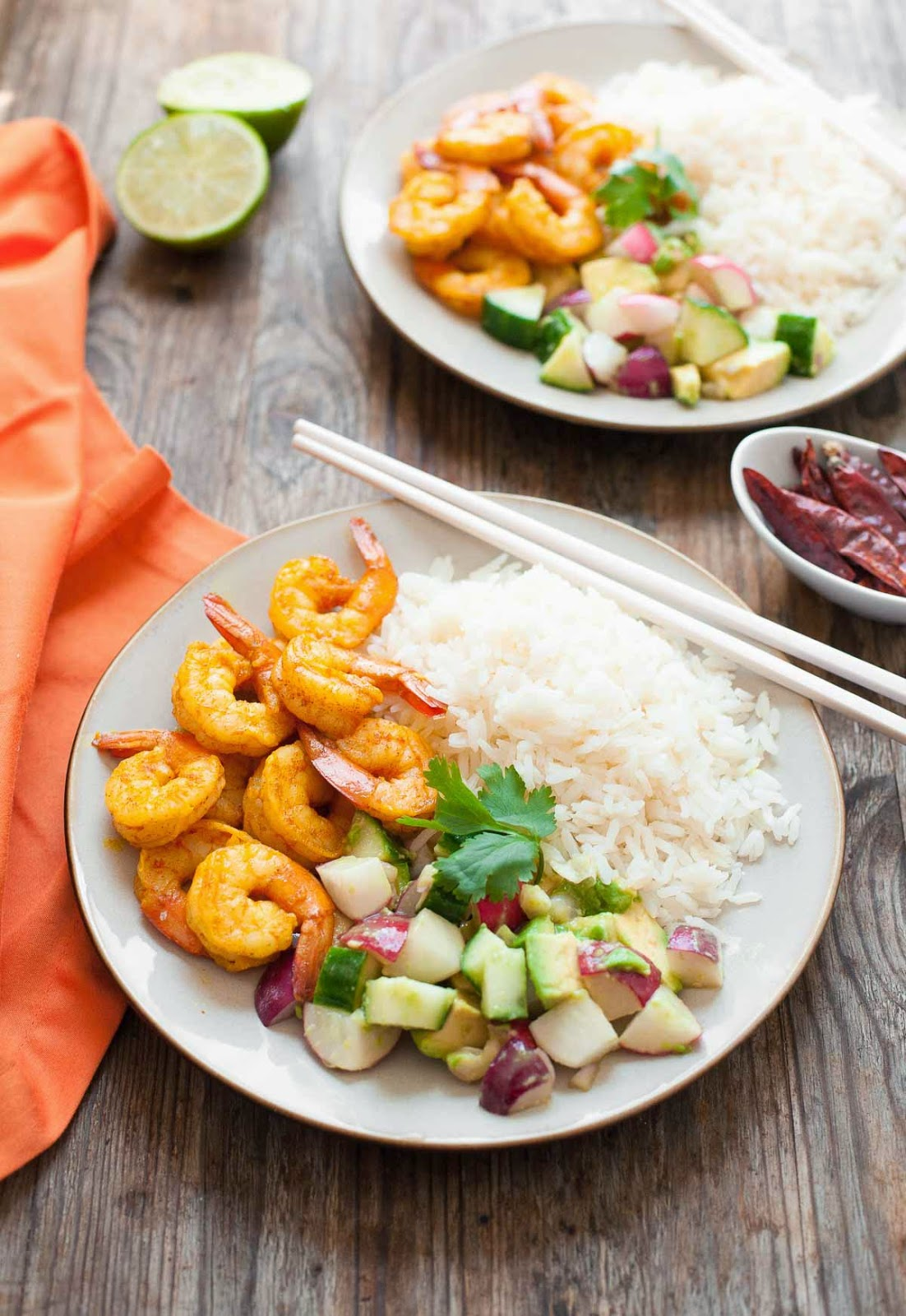 Burmese chile prawns with cucumber and avocado salad a calculated burmese chile prawns with cucumber avocado salad easy 30 minute paleo forumfinder
