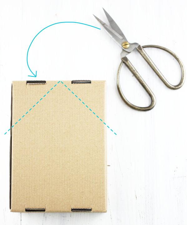 Aus einem alten Karton wird ein DIY Haus