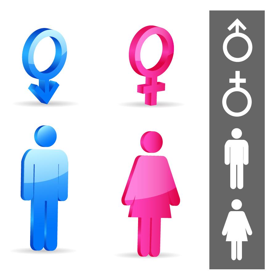 男女性別のシンボルマーク Gender symbols イラスト素材
