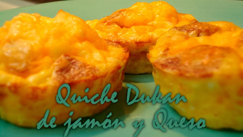 quiche de jamon y queso dukan