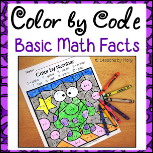 COLOR by CODE Math Facts