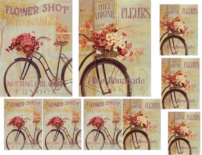 Laminas decoupage lamina bicicleta antigua for Laminas cuadros