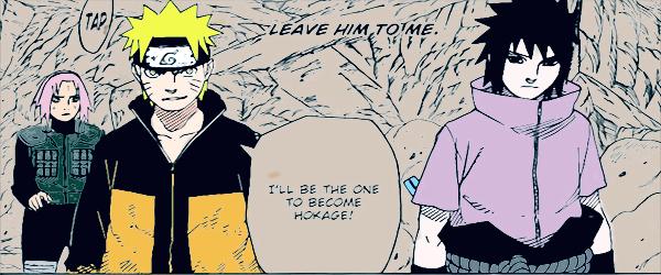Team 7 Back Naruto Manga 631