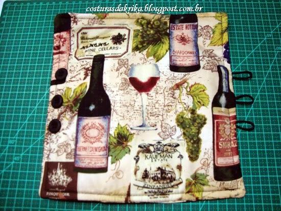 capa para garrafa de vinho