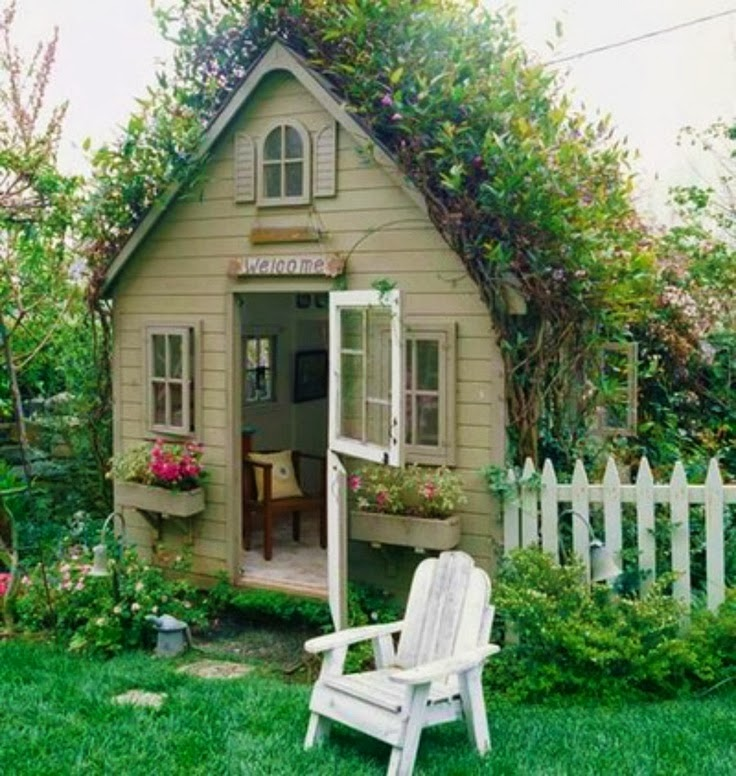 Garden potting sheds for Backyard cottage shed