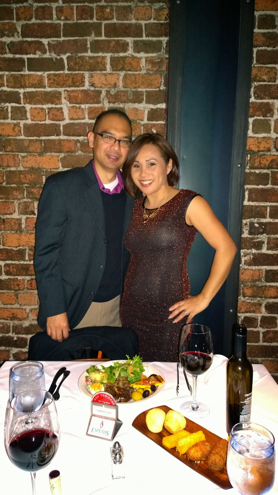 John Gamboa and wife at Espetus, San Francisco