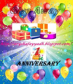PROMOTE GA 1st Year Blog Anniversary | aryshafayyadh.blogspot.com