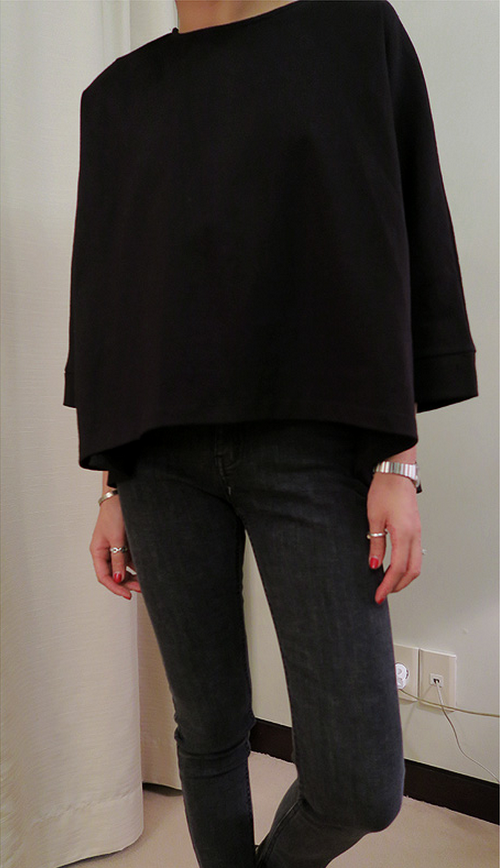 Boxy Cropped Sleeve T-Shirt