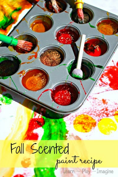 Two ingredient base paint recipe - add fall scents like cinnamon, clove, candy apple, nutmeg, pumpkin, and more!