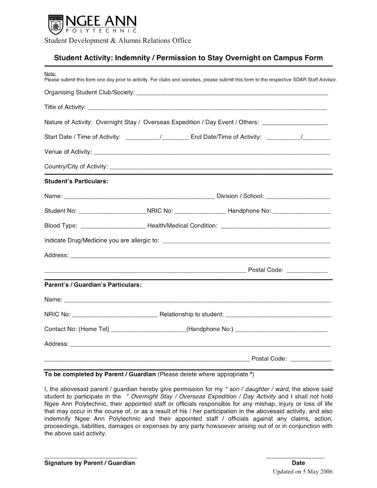 NP ARCHERY CLUB: Indemnity Form