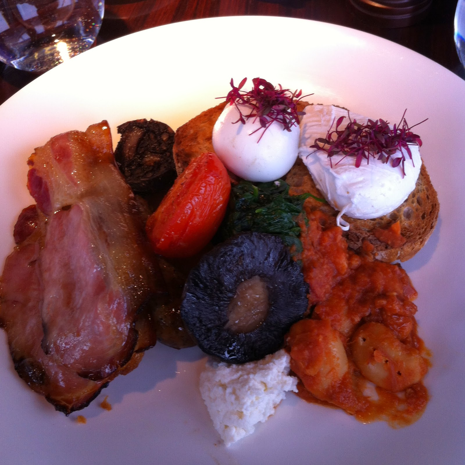 The Shard Full English Breakfast London