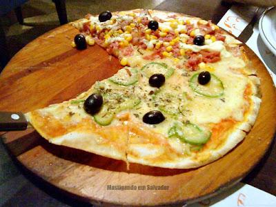 Jerimum Buffet e Forneria: pizza meia Abobrinha meia Do Pizzaiolo
