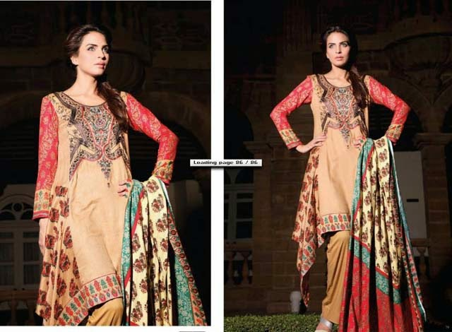 Ittehad Textiles Royal Embroidered Linen Collection 2013-14 For Winter