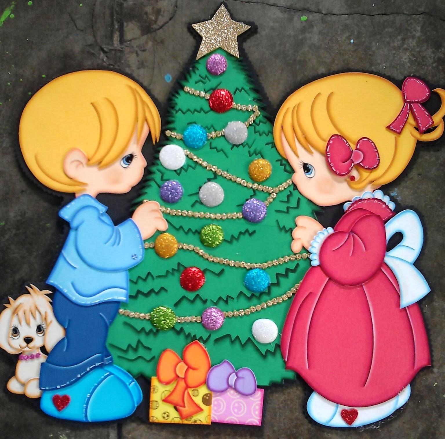 Apliques de navidad para el preescolar elaborados en foamy for Manualidades en familia