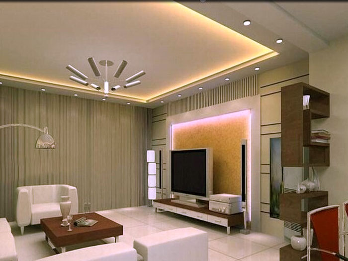 False ceiling designs in living room for Latest ceiling designs living room