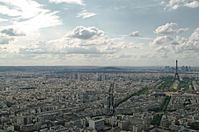 Panorama din Turnul Montparnasse Tour Eiffel Paris  poze frumoase