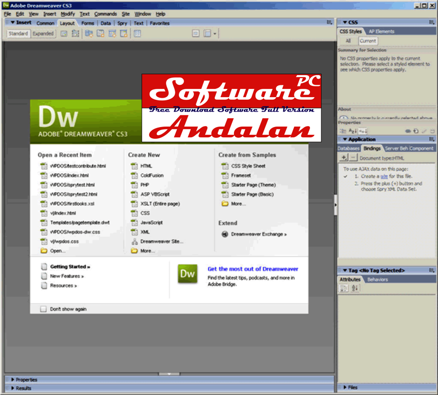Free Dreamweaver Extensions