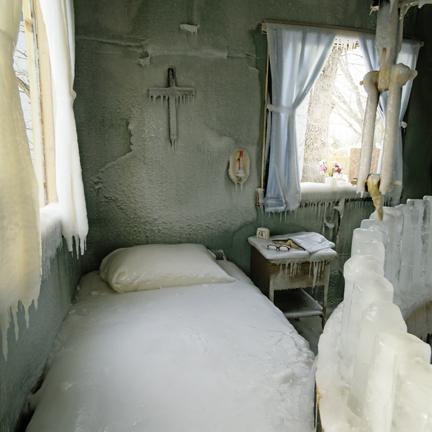 habitacion congelada tras glaciacion