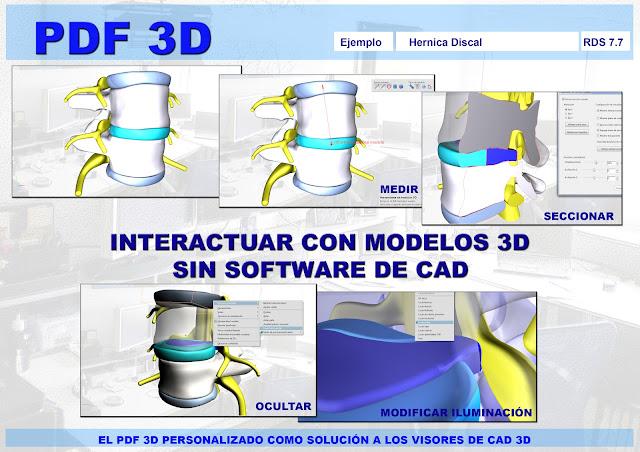 PDF 3D Personalizado - La interacción directa con los modelos 3D