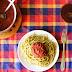 Spinach pasta & tomato sauce