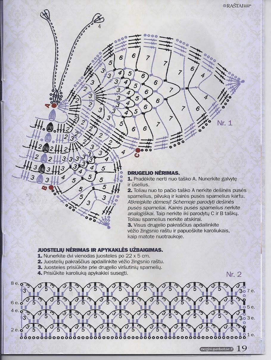 Patrón crochet mariposa - Imagui