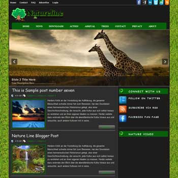 Nature Line blog template. download blogger template nature background