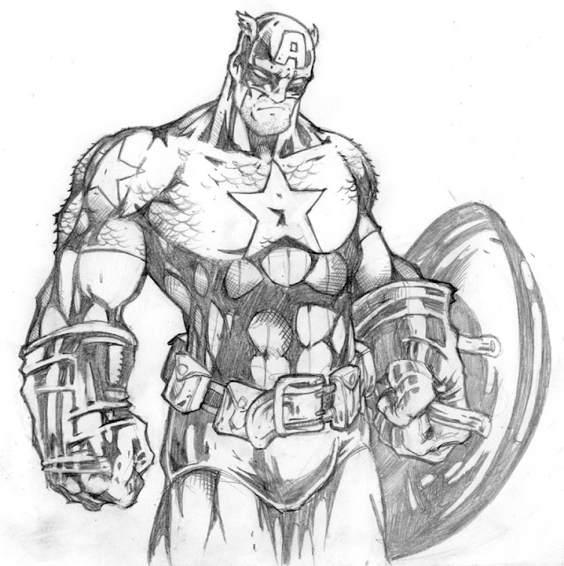 Captain America Sketch por CreatureSink