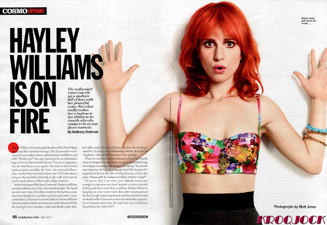 cosmopolitan hairstyle. hayley williams cosmo cover