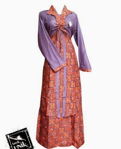 baju batik kantor wanita muslim