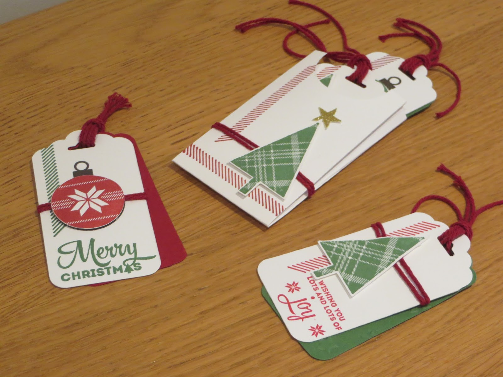 Craftycarolinecreates christmas in august gift tag set using gift tag set using lots of joy by stampin up negle Choice Image
