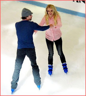 Britney Spears and Jason Trawick went ice skating on her birthday