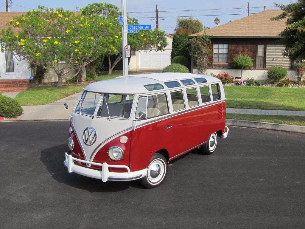 1966 vw samba deluxe 21 window titian red buy classic volks. Black Bedroom Furniture Sets. Home Design Ideas