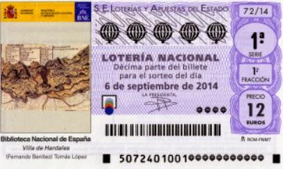sorteo especial del turista 2014 en la Lotería Nacional, 6 septiembre 2014