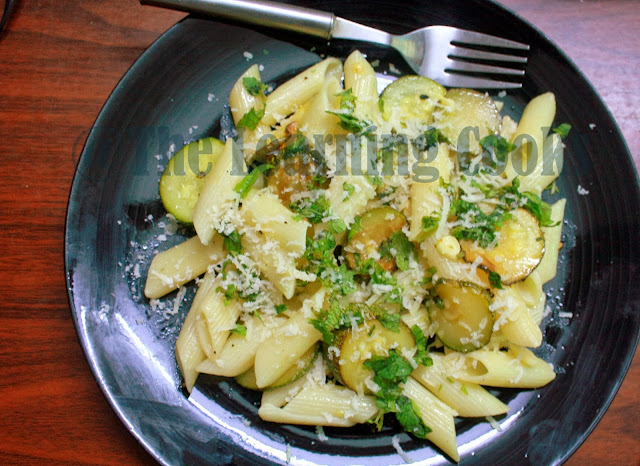 ... Cooks: Zucchini, Lemon & Mint Pasta ~ Easy & Light Pasta Recipe
