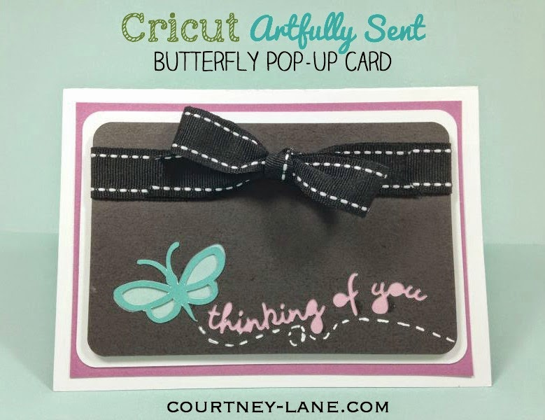 Close To My Heart Artfully Sent Butterfly Pop-up card