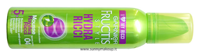 Garnier Fructis - Fructis Style Hydra Ricci.  Mousse per capelli al bamboo.
