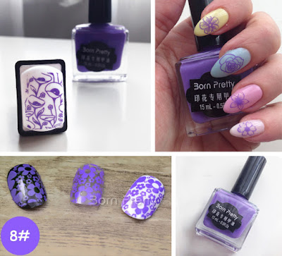 Born Pretty Stamping Polish #8 Purple 15 ml Best nail cute Konad MDU